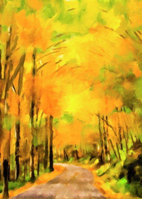Smokey Mountain Drive Paintings Greeting Cards