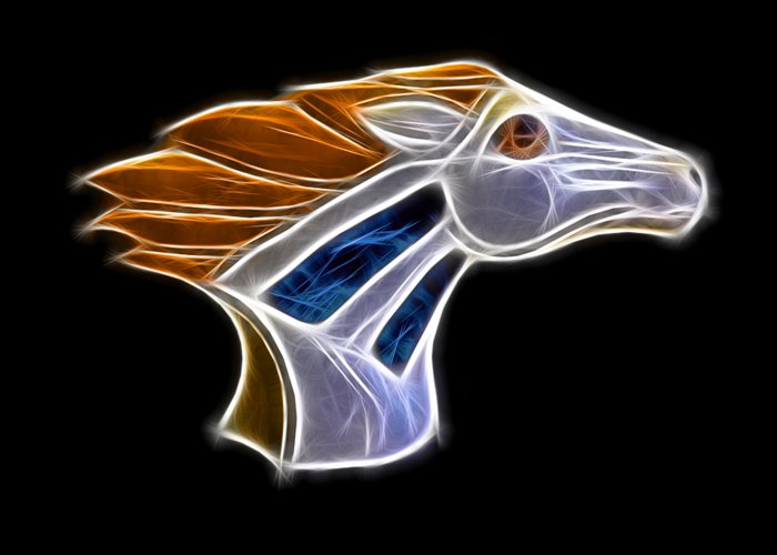 Bronco Greeting Card featuring the photograph Glowing Bronco by Shane Bechler