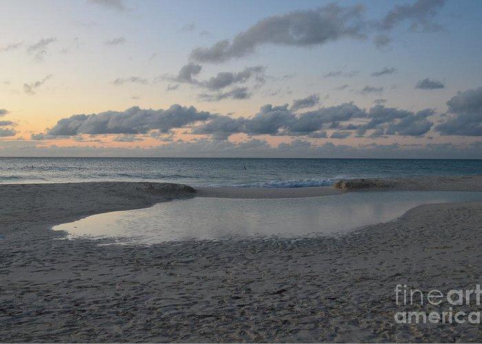 Dusk Greeting Card featuring the photograph Aruba Beach At Dusk by DejaVu Designs