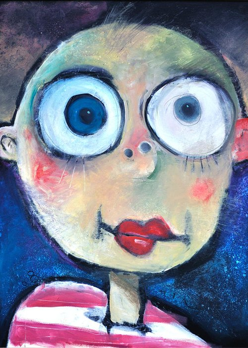 Child Greeting Card featuring the painting As A Child by Tim Nyberg