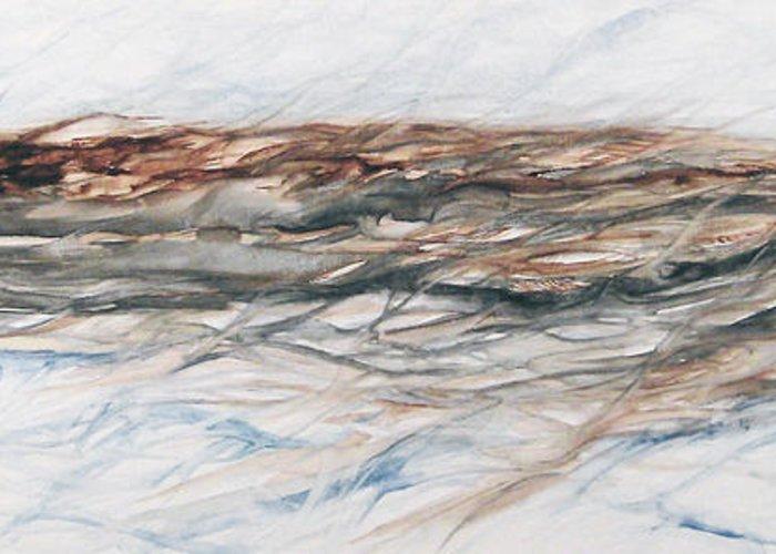Above Air Artist As Below Blue Brown Darkest Darkestartist Earth Ground Painting Water Watercolor Greeting Card featuring the painting As Above Below by Darkest Artist
