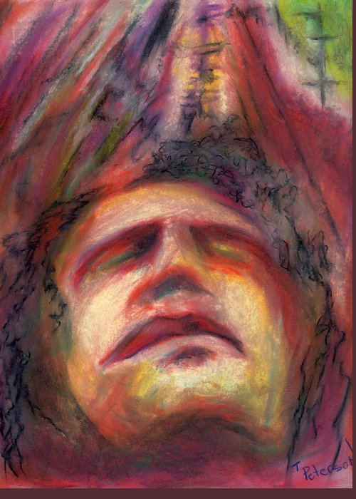 Crayon Greeting Card featuring the painting Ascension by Todd Peterson