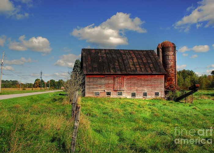 Barn Greeting Card featuring the photograph Ashtabula County Barn by Tony Bazidlo