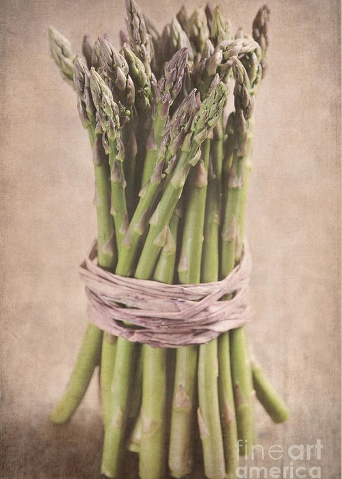 Asparaus Greeting Card featuring the photograph Asparagus Spears by Neil Overy