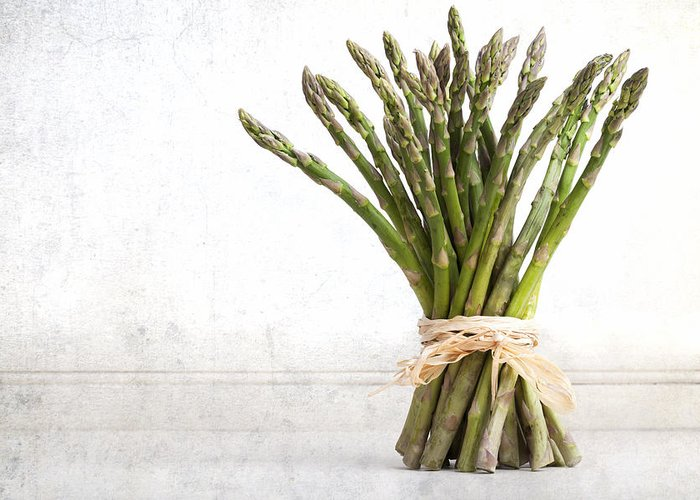 Aged Greeting Card featuring the photograph Asparagus Vintage by Jane Rix