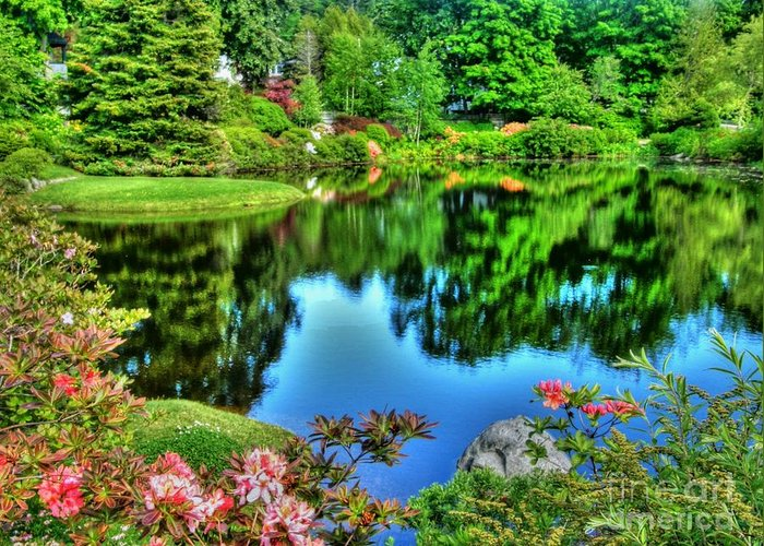 Greeting Card featuring the photograph Asticou Gardens 2 by Carol Christopher