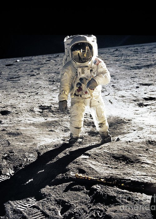 Moon Neil Armstrong Greeting Cards