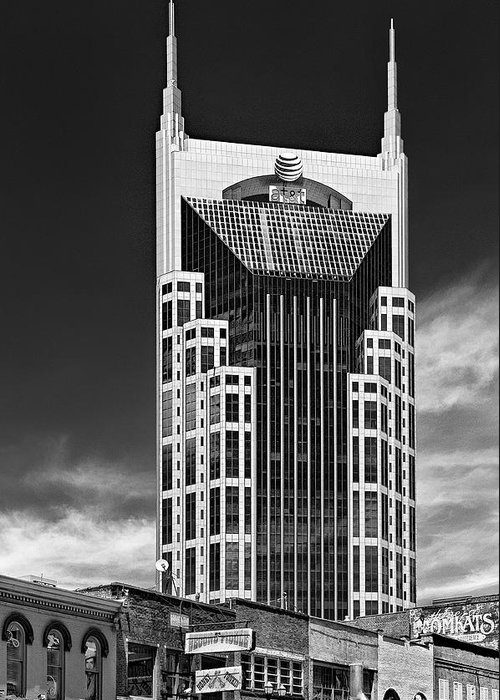 05 Nashville Tn Greeting Card featuring the photograph At And T Nashville by Ian Barber