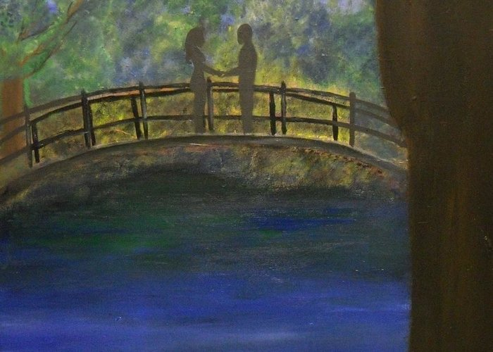Love Greeting Card featuring the painting At Last... by Katrice Kinlaw