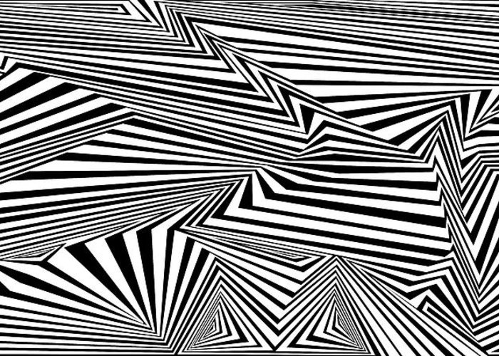 Dynamic Black And White Greeting Card featuring the painting At The End Of The Knot by Douglas Christian Larsen
