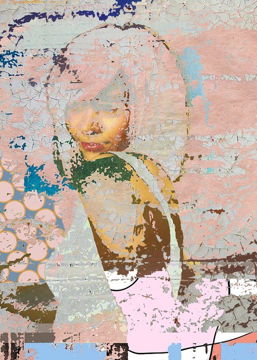 Girl Greeting Card featuring the digital art At The Pink Pace by Adam Kissel