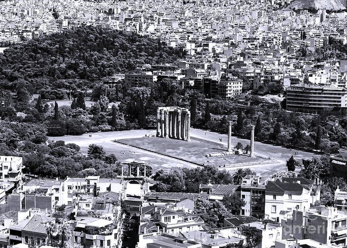 Athens Cityscape Iv Greeting Card featuring the photograph Athens Cityscape Iv by John Rizzuto