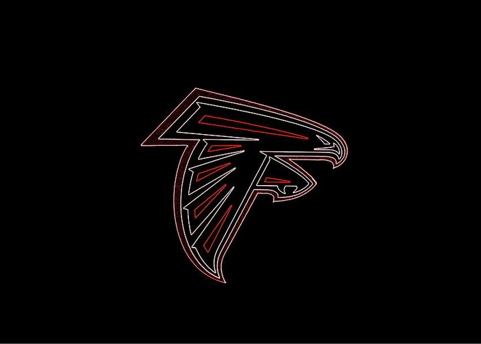 Atlanta Falcons Football Team Logo Neon Art Greeting Card For Sale By Reid Callaway