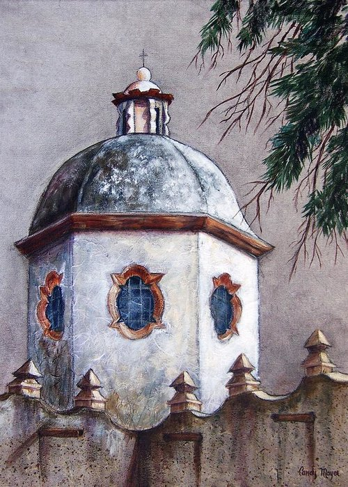 Landscape Greeting Card featuring the painting Atotonilco by Candy Mayer