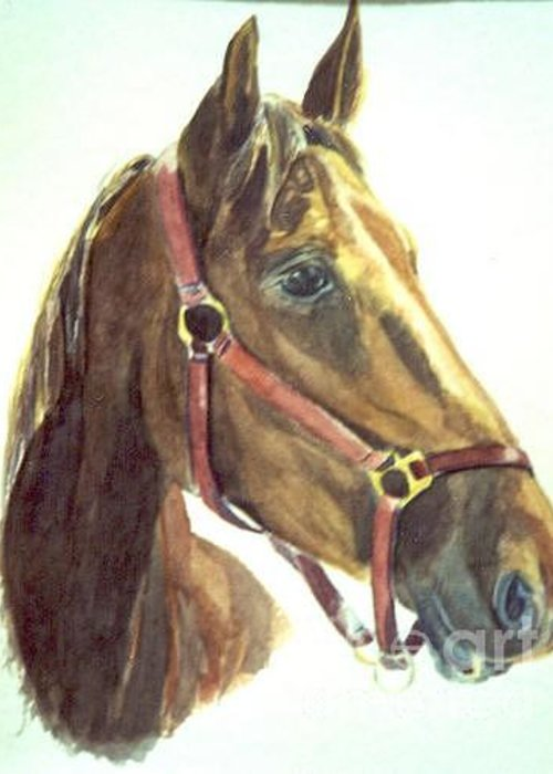 Saddlebred Greeting Card featuring the painting Attadoll by Stephanie Allison