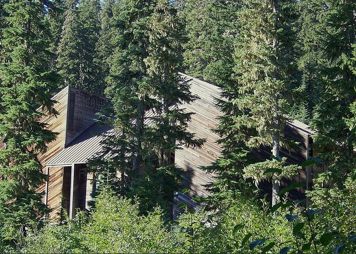 Lodge Greeting Card featuring the photograph Aubrey Watzek Lodge by Angi Parks