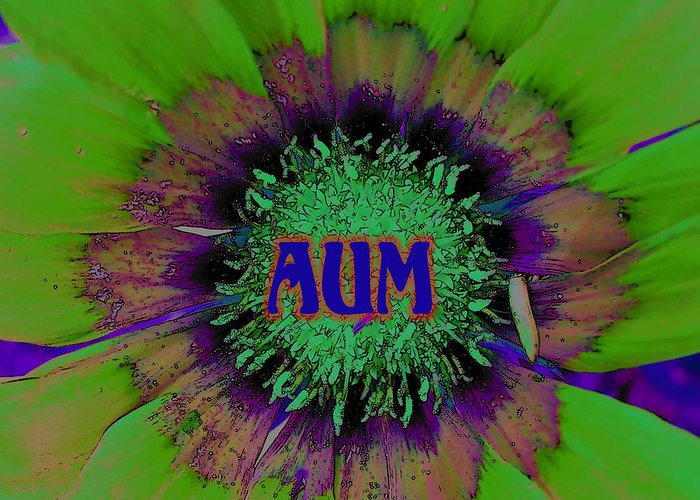 Aum Greeting Card featuring the photograph AUM by Vijay Sharon Govender