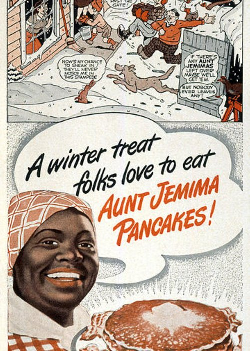 -domestic- Greeting Card featuring the photograph Aunt Jemima Ad, 1948 by Granger