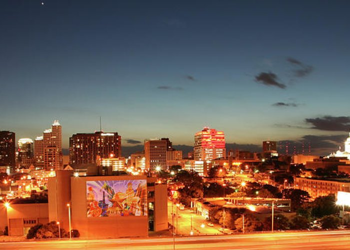 Photography Greeting Card featuring the photograph Austin Night by Andrew Nourse
