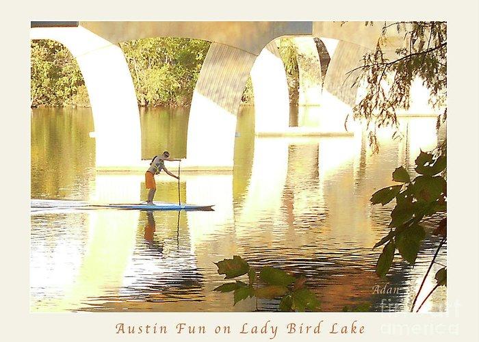 Austin Texas Greeting Card featuring the photograph Austin Texas - Lady Bird Lake - Mid November Three - Greeting Card by Felipe Adan Lerma