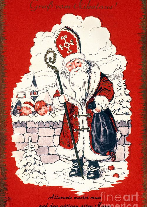 19th Century Greeting Card featuring the photograph Austrian Christmas Card by Granger