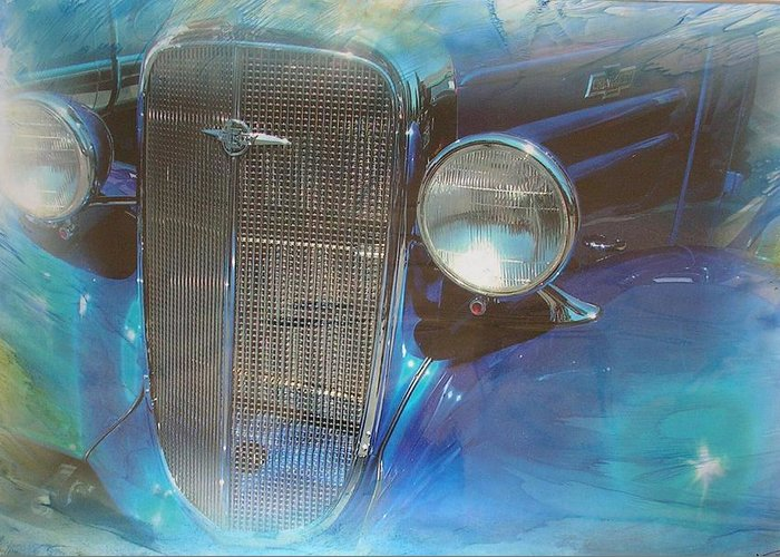 Digital Wax Mixed Media Greeting Card featuring the mixed media Auto Series 3 by John Vandebrooke
