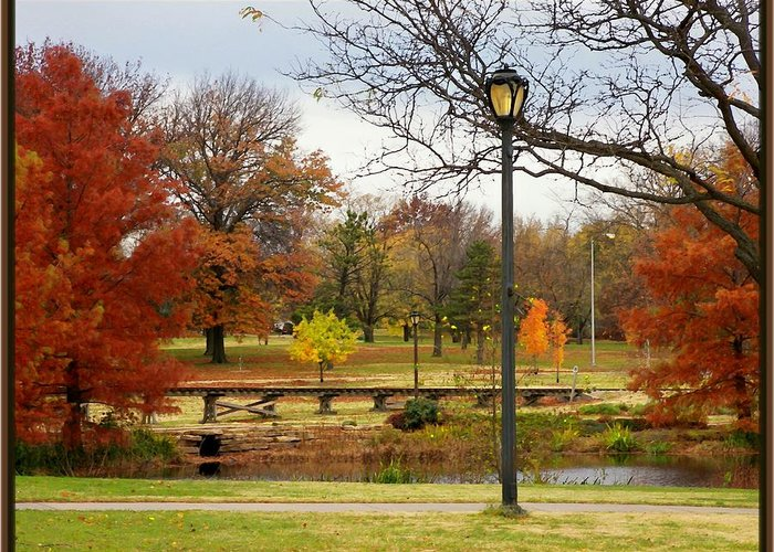 Aurum Greeting Card featuring the photograph Autum Days by Jim Darnall