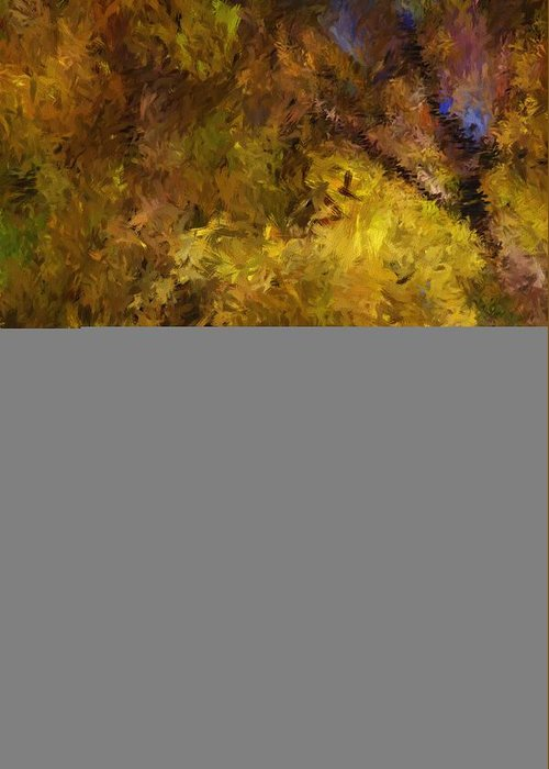 Abstract Digital Painting Greeting Card featuring the digital art Autumn Abstract by David Lane