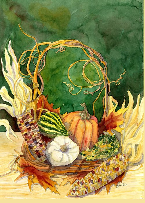 Grapevine Autumn Leaf Greeting Cards