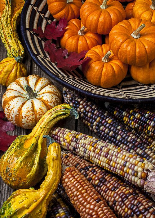 Gourd Greeting Card featuring the photograph Autumn Abundance by Garry Gay