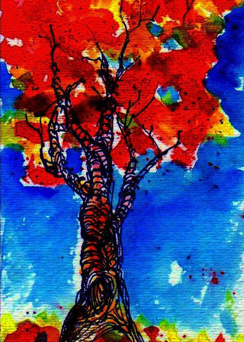 Fall Greeting Card featuring the painting Autumn by Anne Duke