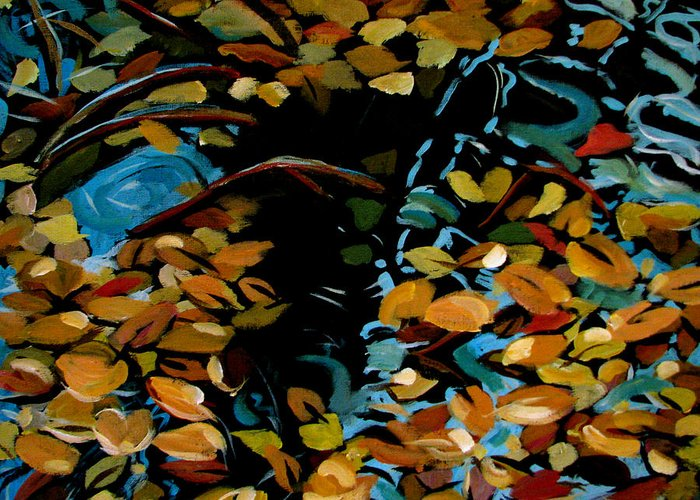 Autumn Greeting Card featuring the painting Autumn by Art Nomad Sandra Hansen