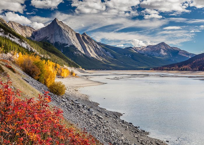 5dsr Greeting Card featuring the photograph Autumn At Medicine Lake by Pierre Leclerc Photography