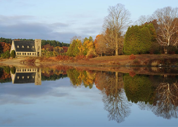 Autumn Greeting Card featuring the photograph Autumn At The Old Stone Church by Luke Moore