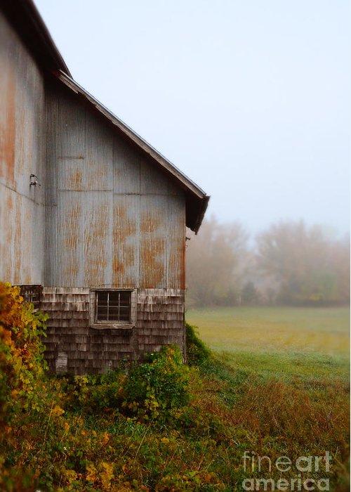 Barn Greeting Card featuring the photograph Autumn Barn by Jill Battaglia