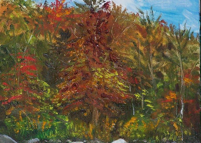 Autumn Greeting Card featuring the painting Autumn Colors by Pamela Wilson