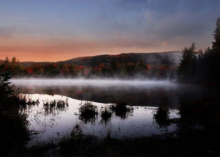 Autumn Greeting Card featuring the photograph Autumn Fog by William Carroll