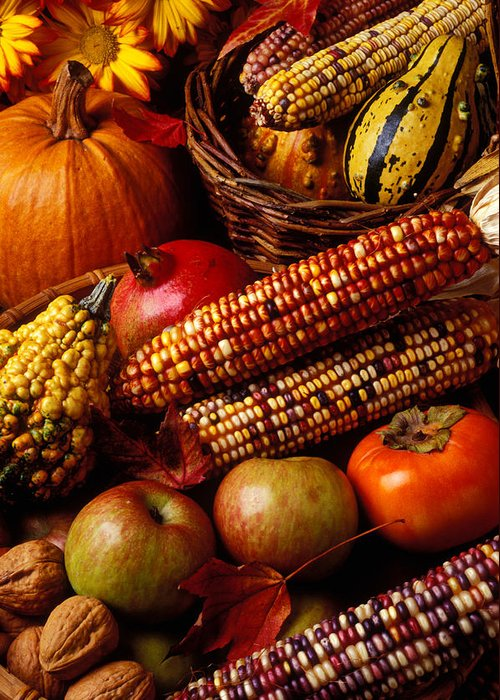 Autumn Greeting Card featuring the photograph Autumn Harvest by Garry Gay