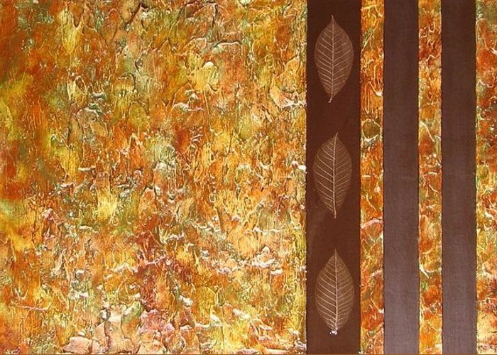 Texture Greeting Card featuring the painting Autumn Harvest by Sophia Elise
