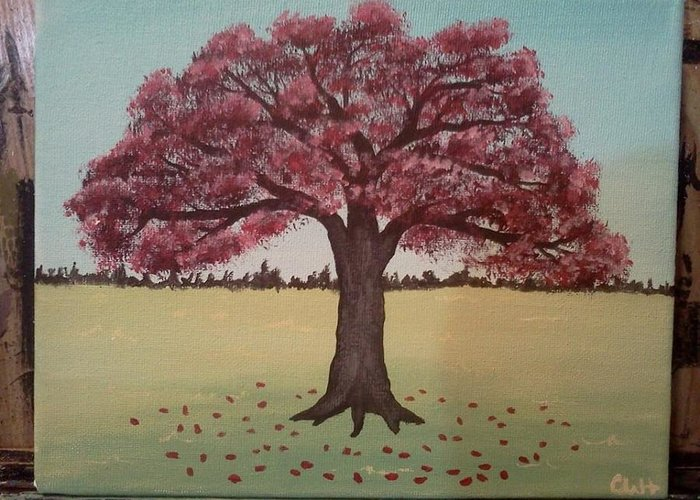 Maple Greeting Card featuring the painting Autumn Maple by Cody Haywood