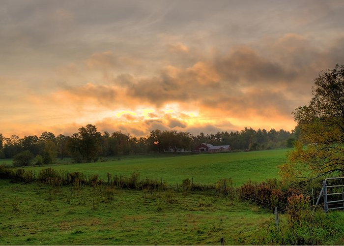 Farms Greeting Card featuring the photograph Autumn Morning by David Bishop
