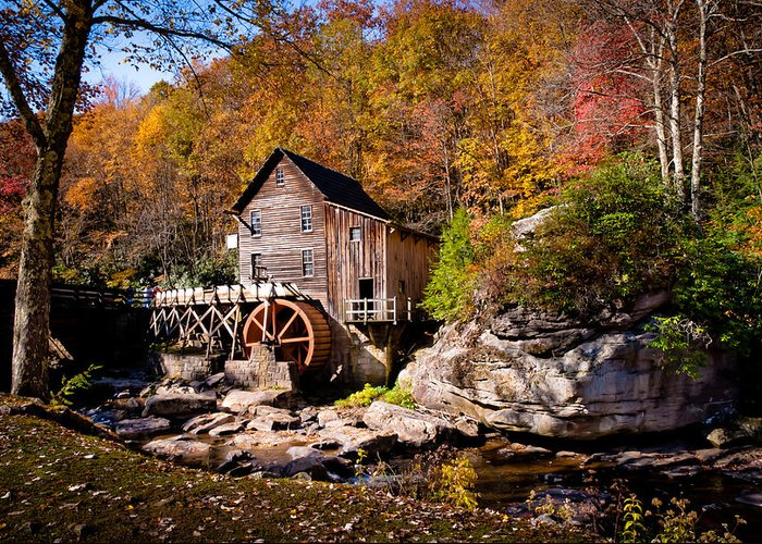 Autumn Greeting Card featuring the photograph Autumn Morning In West Virginia by Jeanne Sheridan