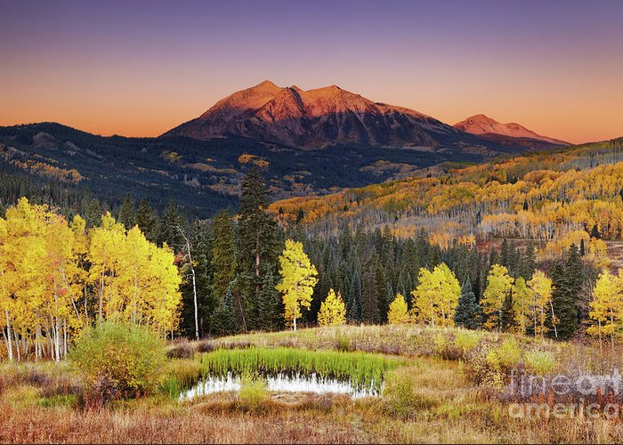 America Greeting Card featuring the photograph Autumn Mountain Landscape, Colorado, Usa by Dmitry Pichugin