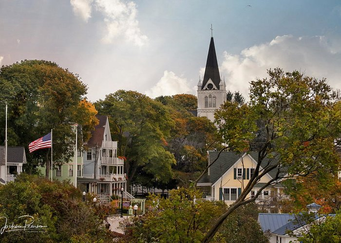 Mackinac Island Greeting Card featuring the photograph Autumn On Mackinac Island by Jackson Pearson