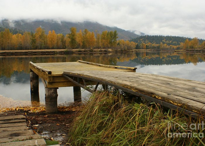 River Greeting Card featuring the photograph Autumn On The River by Idaho Scenic Images Linda Lantzy