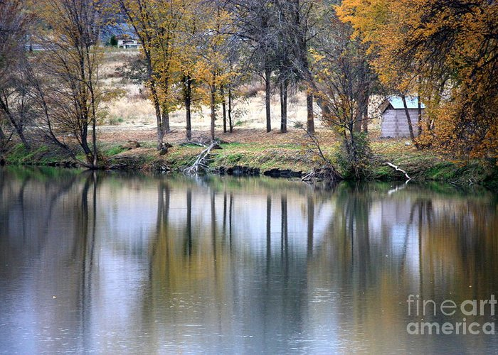 Fall Reflection Greeting Card featuring the photograph Autumn Reflection 16 by Carol Groenen
