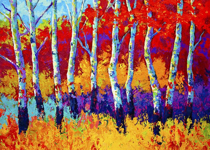 Trees Greeting Card featuring the painting Autumn Riches by Marion Rose