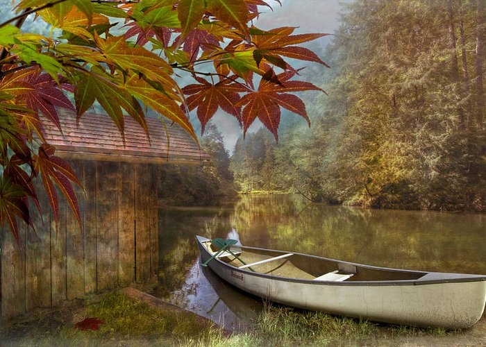 American Greeting Card featuring the photograph Autumn Souvenirs by Debra and Dave Vanderlaan