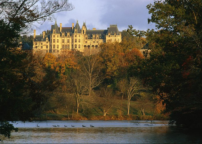 North America Greeting Card featuring the photograph Autumn View Of The Biltmore by Melissa Farlow