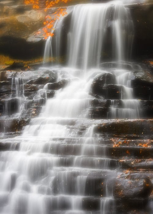 Autumn Greeting Card featuring the photograph Autumn Waterfall II by Kenneth Krolikowski